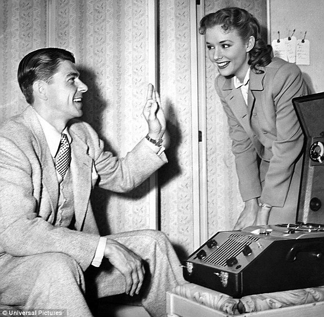 "Ronald Reagan was 39 and was playing Piper Laurie's father in the 1950 drama ""Louisa"", which is how they got to know each other"