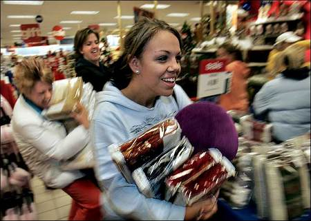 The day after Thanksgiving, or Black Friday, kicks off the holiday shopping season