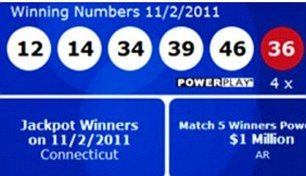 The jackpot was the largest ever won in Connecticut and the 12th biggest in Powerball history