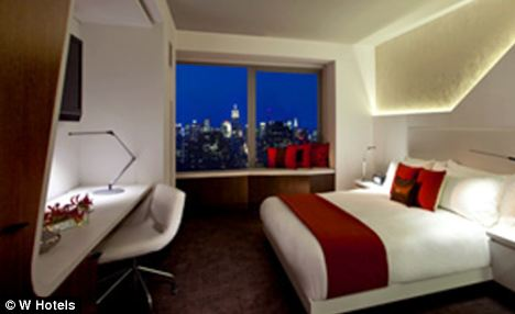 W Hotel Downtown is a $700-per-night hotel, with 350-count Egyptian cotton sheets