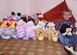 "Aiden Moe delivered more than 100 ""Pillow Pet"" toys to families at the Ronald McDonald House in Sioux Falls, South Dakota this weekend"