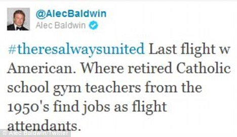 Alec Baldwin took to his own Twitter account to give his version of AA events