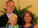 Amanda Price, her husband Ron and their 3-year-old daughter Molly