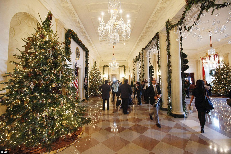 American First Lady Michelle Obama revealed White House Christmas decorations for this holiday season