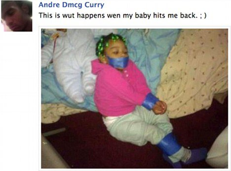 Andre Curry 21 has generated intense internet backlash after he posted the photo in July photo