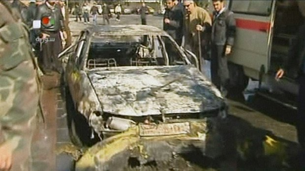 At least 44 people have been killed and more than 150 injured in twin suicide car bombings in Damascus