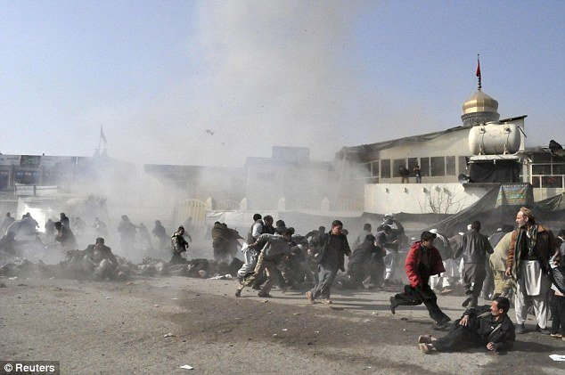 At least 54 people have been killed after a bomb exploded at a packed mosque in Afghanistan as people celebrated a major Shi'ite festival in Kabul