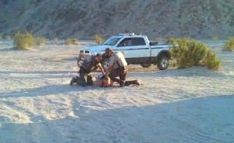 Brooke Fantelli, 43, was stunned by the taser gun by the Bureau of Land Management (BLM) while she was participating in a photo shoot in the desert near El Centro late last month