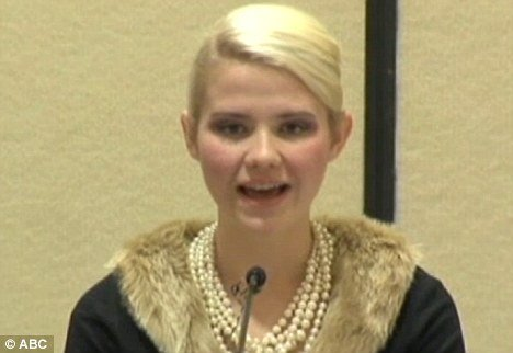 Elizabeth Smart now 24 has spoken in public about the graphic details of her nine months in captivity at the hands of Brian David Mitchell and his wife Wanda Barzee photo