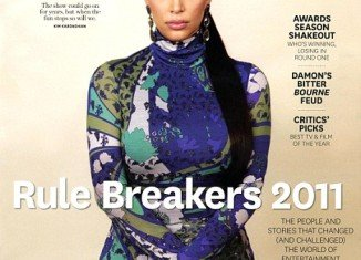 Kim Kardashian appears on one of four special covers of Hollywood Reporter's year-end double-issue
