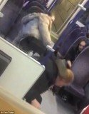 "Lisa Alyounes, a 4ft 9in woman was caught on video pummeling her ""cheating"" boyfriend on a train"