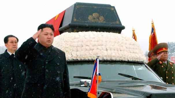 "North Korea has hailed Kim Jong-Un as ""supreme leader of the party, state and army"" after his father's funeral"