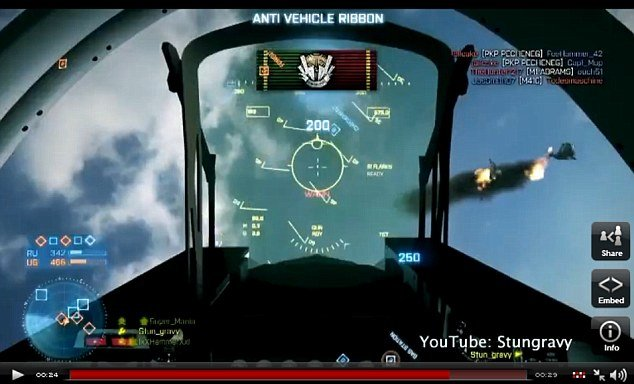 Player RendeZook' stunt in Battlefield 3 game has 5 million viewers on YouTube