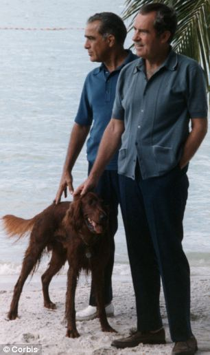 President Richard Nixon with Bebe Rebozo at Key Biscayne