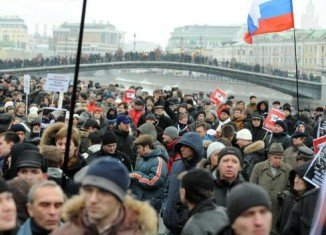 Protesters allege there was widespread fraud in Sunday's polls - though the ruling United Russia party saw its share of the vote fall sharply