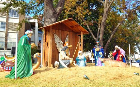 Protesters from across US will be rallying against a nativity display put up in front of the Henderson's Courthouse in Texas today in the so-called War Against Christmas