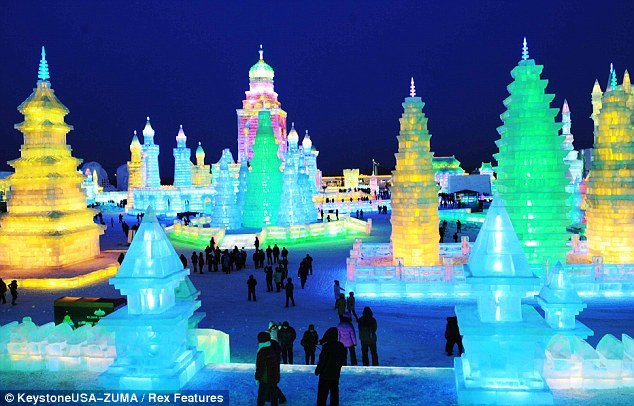 The 28th Harbin International Ice and Snow Festival in China, featuring work by some of the best ice sculptors and attracting thousands of visitors from around the world, will be opened on January 5, 2012