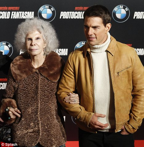 The Spanish aristocrat, Duchesse of Alba took to the red carpet with Tom Cruise at the premiere of Mission: Impossible Ghost Protocol
