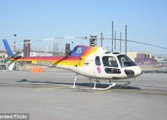 The tour helicopter that crashed in Las Vegas was an Aerospatiale AS350, which can hold up to six passengers and are often used for air tours
