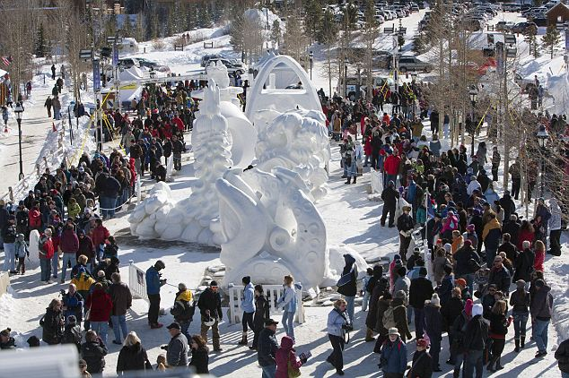 2012 International Snow Sculpture Competition which is held in Breckenridge Colorado each year came to a close this morning photo