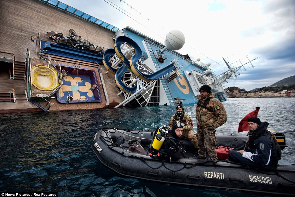 A state of emergency has been declared around the stricken Costa Concordia after an unidentified liquid began to leak from the ship photo