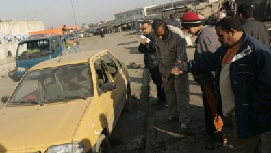 At least 50 people have been killed and more than 70 have been injured in bomb attacks in southern Iraq and in the capital Baghdad