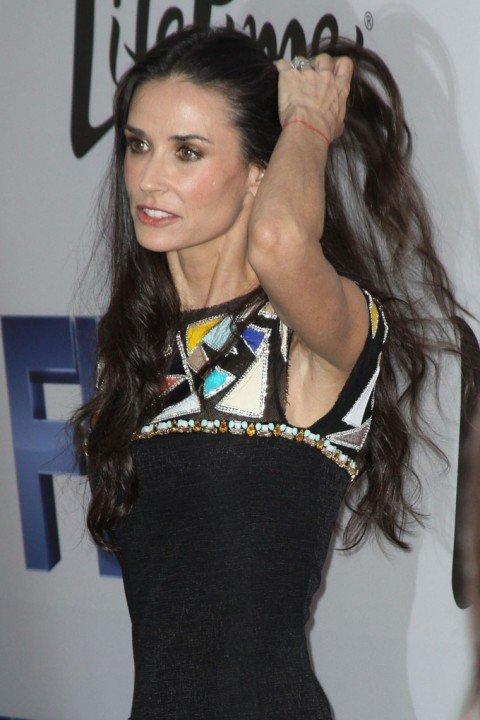 Demi Moore 49 who has appeared increasingly frail in recent weeks was taken to a health facility by ambulance just before 11 pm last night photo