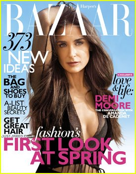 Demi Moore has made a frank confession in her latest interview with Harper's Bazaar that she fears she isn't worthy of being loved photo