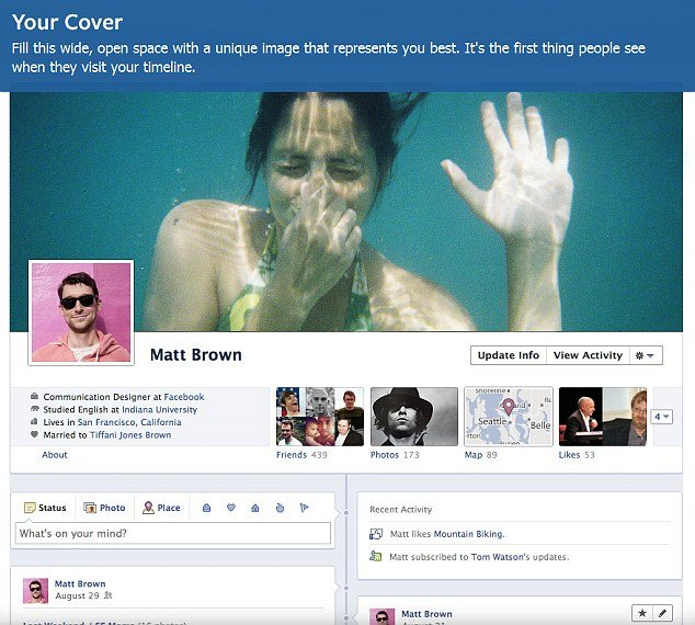 "Facebook's Timeline will bring to your pages a more magazine-like photo-heavy feel, with a large ""cover photo"" at the top of the page"