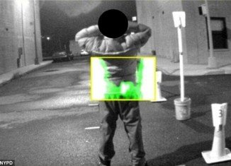 Infrared rays will be used to scan a form of natural energy - like radiation - emitted from the body of someone concealing a gun on the street