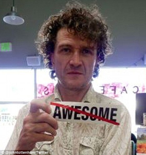 "John Tottenham, a British original poet, has launched a campaign to stamp out the word ""awesome"" claiming that it is ""bogus""."