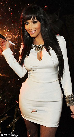 Kim Kardashian looked sensational as she arrived at a New Year's Eve party in Las Vegas