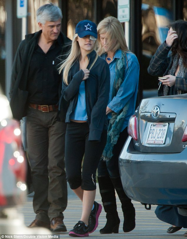 Lauren Scruggs was spotted leaving a hospital in Dallas, where she has been recovering since the accident, with her parents on Tuesday