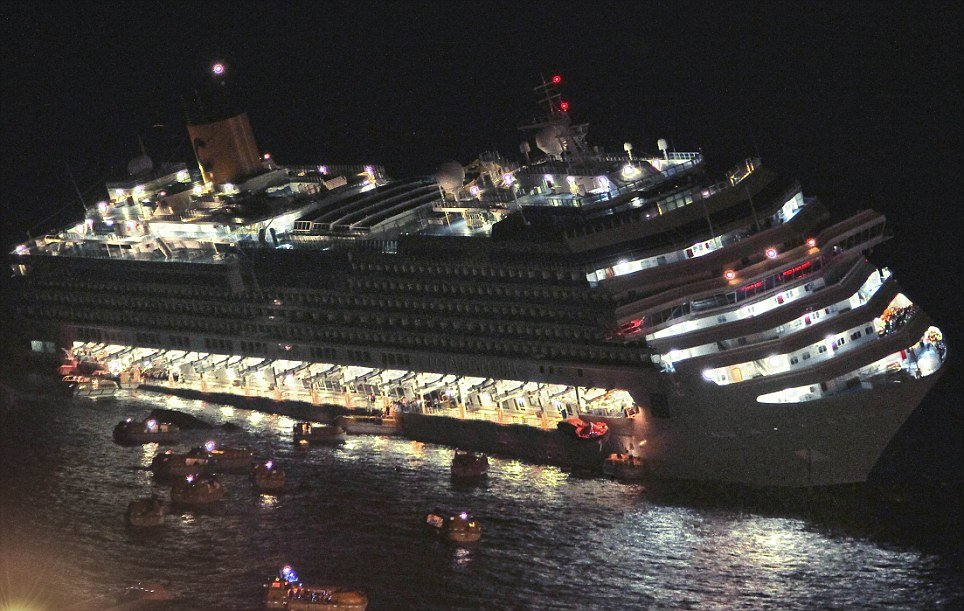 Titanic Alike Scene In Pictures Of Costa Concordia Moments