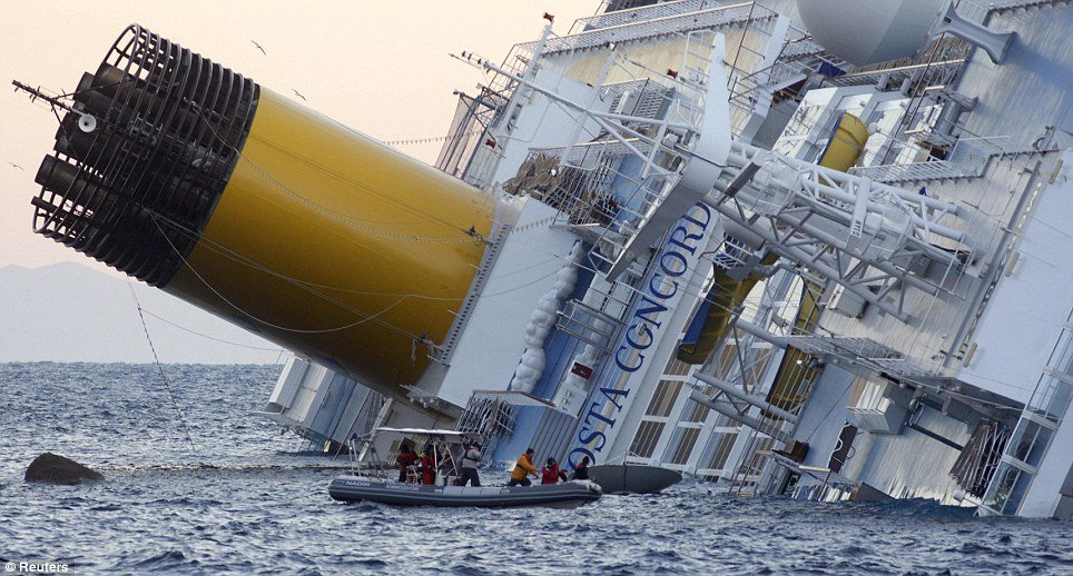 More than 24 hours after Costa Concordia ran aground off the Italian coast three survivors have been found on the stricken cruise ship photo