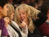 On Tuesday night Heather Locklear attended a Lakers basketball game at the Staples Centre, where she was seen laughing and joking with friends and appeared to be in good spirits