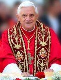Pope Benedict XVI warned yesterday that gay marriage is one of several threats to the traditional family unit