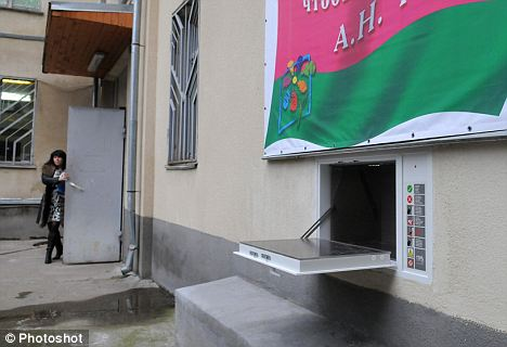 Russian cities introduced for the first time the anonymous baby drop boxes, where unwanted children could be left