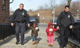 The two little girls aged just 3 and 5 have been abandoned by their mother on the street with only a few extra diapers