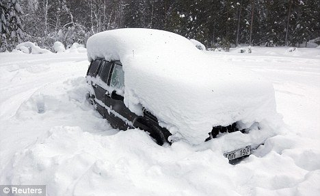 A Swedish man survived for two months in his snow-covered car on nothing but snow after he was trapped in sub-zero temperatures