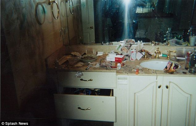 A shocking picture of Whitney Houston's bathroom took at her home in Atlanta, Georgia, shows how the star's life spiraled into chaos at the height of her crack addiction