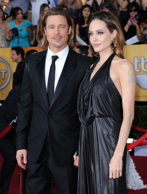 """A source told OK! magazine that Angelina Jolie and Brad Pitt were """"thrilled"""" at how quickly she got pregnant this time and that they believe it was """"meant to be"""""""