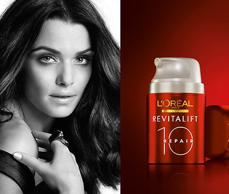 ASA banned magazine advertisement for L'Oreal's Revitalift Repair 10 in which Rachel Weisz appeared with perfectly smooth skin photo