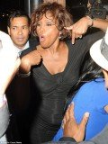 According to TMZ, Whitney Houston was seen with a large group of friends at the hotel bar on the eve of her death
