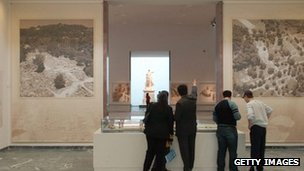 An armed robbery took place at a museum in Ancient Olympia, the birthplace of the Olympics, from where dozens of artefacts have been stolen