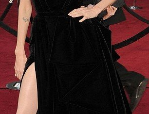 Angelina Jolie's attention-seeking leg on the red-carpet at the Oscars