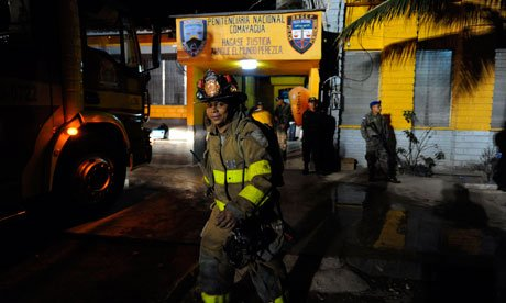 At least 272 prisoners have been killed in a massive fire that has swept through a jail in Comayagua in central Honduras