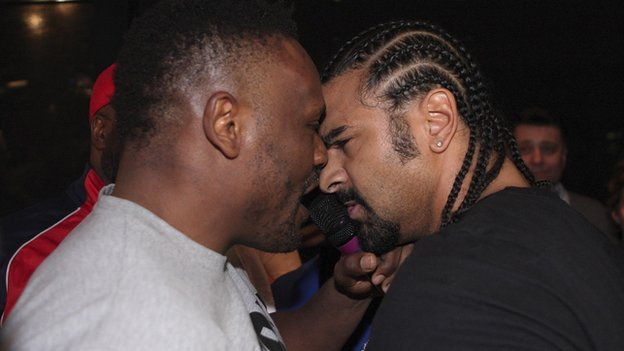 British boxer Dereck Chisora has been arrested by German police after a brawl with fellow boxer David Haye in Munich photo