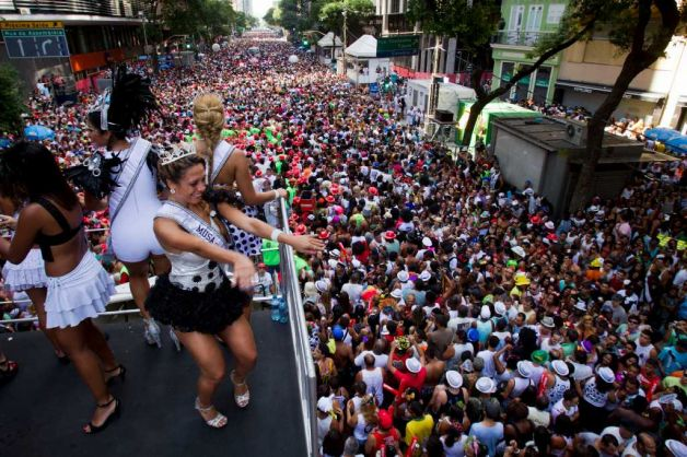 Cordao do Bola Preta parade, one of Rio de Janeiro's oldest and most popular carnival street parties has attracted a record 2.2 million revelers