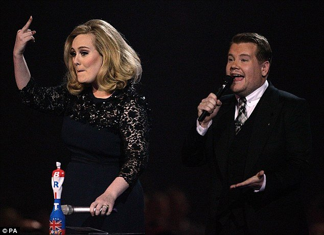Double awarded Adele was at the centre of controversy at Brit Awards after one of her acceptance speeches was cut short and she made a rude gesture photo
